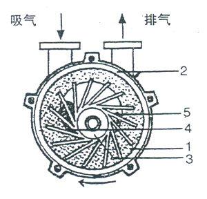 2BV型水环式真空泵的工作原理