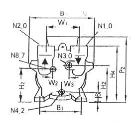 2BV型水環式真空泵的安裝尺寸