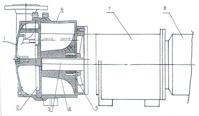 在2bv真空泵盖上安装有园盘,园盘上设有吸,排气孔和柔性排气阀片