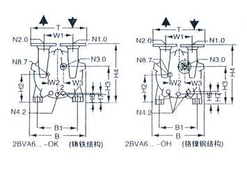 2BV型水环式真空泵的安装尺寸